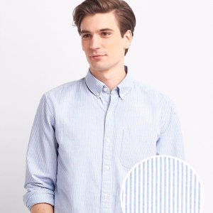 Мужская рубашка Gap Oxford Bengal Stripe Standard Fit Shirt