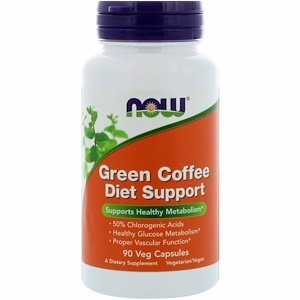 NOW Green Coffee Diet Support 90 капс