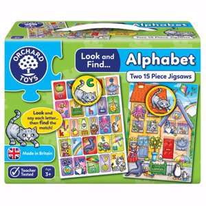Look & Find Alphabet Learning Puzzles