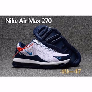 Nike Air Max 270 White Navy Shoes For Men
